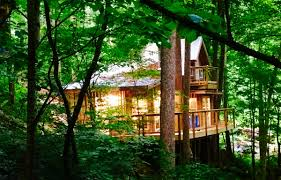 tree house north carolina appalachian mountain tub hiking