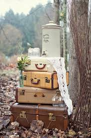 vintage wedding decor 30 ways to use vintage suitcases in your wedding decor