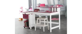 bureau enfnat bureau enfant blanc fushia crea miliboo