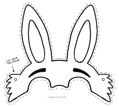 easter bunny mask templates u2013 happy easter 2017
