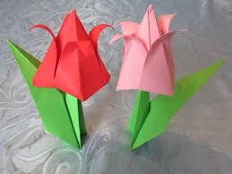 bouquet en papier origami tulipe youtube