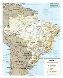 Map Of Brazil South America by Political Map Of Brazil With Relief Brazil South America