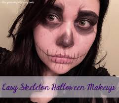 easy skeleton makeup look using only 1 super easy and non toxic
