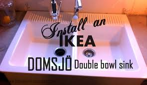 Ikea Sink With Non Ikea Faucet Day 17 Install An Ikea Domsjo Sink U2026and Live