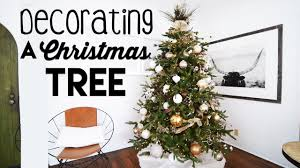 rustic glam christmas tree decorating for small apartments steps