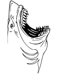 jaws shark coloring pages place color