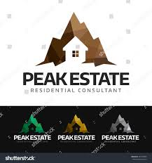 House Silhouette by Logo House Silhouette Negative Space Mountain Stock Vector