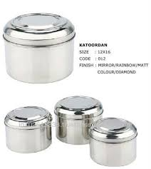 stainless steel canisters kitchen stainless steel canisters puri dabba for food storage in kitchen