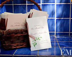 wedding programs with ribbon programs with ribbon etsy