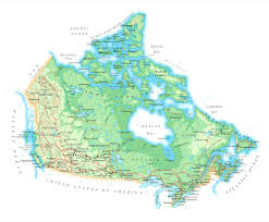 online maps canada physical map