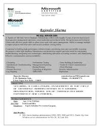 Sample Dba Resume by Rajender Resume Updated