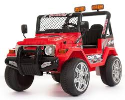 electric 4x4 battery powered 2 seater 4x4 ride on truck 12v red