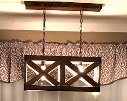 Valance Lighting Fixtures Wood Light Fixture Etsy