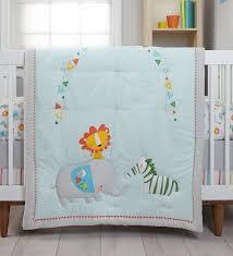 Zutano Crib Bedding Zutano Blue Juba 5 Crib Bedding Set Reviews Wayfair
