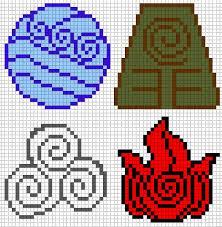 avatar elements perler bead pattern u2026 pinteres u2026