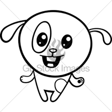 cartoon kawaii coloring page gl stock images