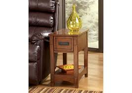 tucker furniture brown chair side end table