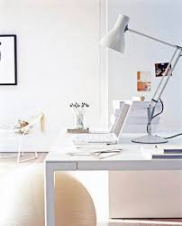 Big White Desk by Simple Small Home Office With White Desk Notebook Arch Lamp And