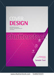 book cover design vector template a4 stock vector 548823223