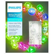 philips 30ct halloween battery operated led skull dewdrop lights