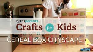 cereal box cityscape crafts for kids pbs parents youtube
