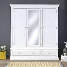 wardrobes juliette shabby chic true white triple wardrobe white
