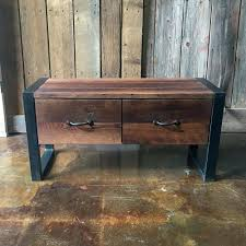 industrial storage bench industrial storage bench reclaimed wood storage bench rustic
