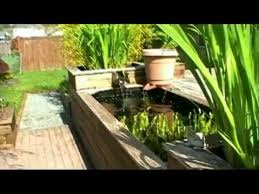 learn how to build your own raised koi pond youtube