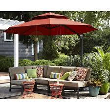 Lowes Patio Umbrella Shop Garden Treasures Offset Patio Umbrella Common 10 5 Ft W