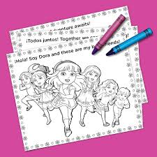 dora friends coloring pack nickelodeon parents