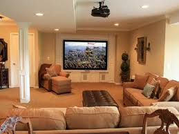 decorating stunning family room with brown leather couches and