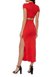how to cut out the back of a cabinet cut out back side slit bodycon dress