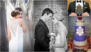 great gatsby art deco flapper wedding shoot