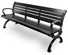 Blackriver Bench Seats Primarily 3 People Recycled Plastic Backless Park Bench