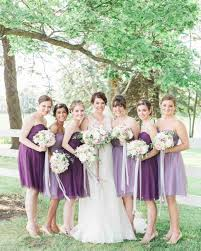 bridal party dresses purple bridesmaid dresses martha stewart weddings