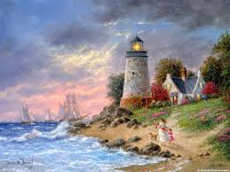 430 best maritime nautical coastal lighthouses beaches mosaic lighthouse masted sailing ships a sailor s homecoming by dennis lewan