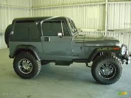 charcoal black jeep 1990 charcoal gray metallic jeep wrangler laredo 4x4 18337600