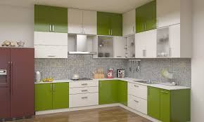 modern backsplash for kitchen kitchen green and white colors on modular kitchen cabinets