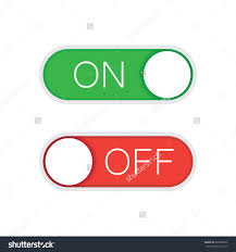 universal toggle switch vector icon on and off position simple