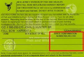 free resume templates bartender nj passaic njdep division of fish wildlife automated harvest report