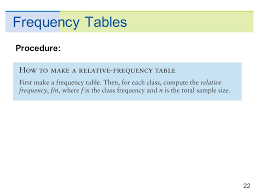 How To Make A Relative Frequency Table Copyright Cengage Learning All Rights Reserved 2 Organizing
