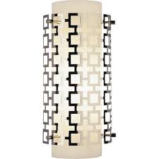 Polished Nickel Wall Sconce Robert Abbey Lighting S662 Jonathan Adler Parker Wall Sconce
