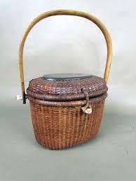vintage nantucket basket purse signed barlow ebay sold 164 50