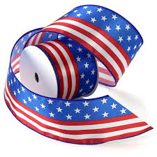 Flag With 2 Red Stripes And 1 White Amazon Com Morex Ribbon Stars And Stripes Wired Satin Ribbon