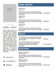 Resume Template In Word Format Free Resume Templates Word Document Resume Template And