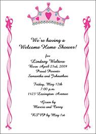 welcome home baby shower crown princess invites for baby shower welcome home party 2076ibu wh