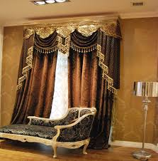 Brown Gold Curtains Luxurious Decoration In Living Room With Brown Gold Curtains With