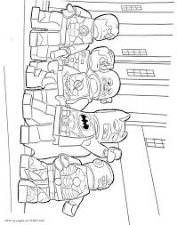 lego batman and robin coloring pages
