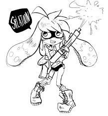 coloring pages splatoon