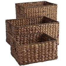 large wicker baskets with lids carson espresso wicker shelf storage baskets pier 1 imports